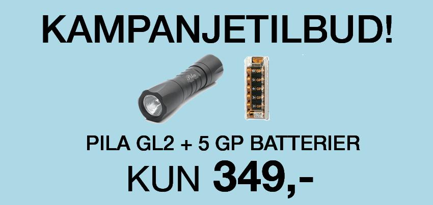 kampanjetilbud pila gl2 og battery clips